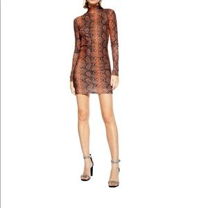 Topshop snakeskin dress